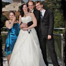 Brautpaar mit Trauzeugen