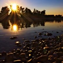 Uferlinie an der Donau