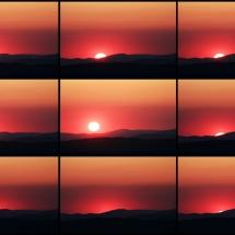 Collage Sonnenuntergang mit Rahmen