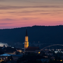 Vilshofen nach Sonnenuntergang